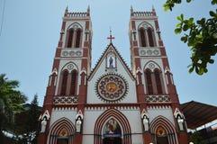 Pondicherry, India. Basilica of the Sacred Heart of Jesus Church, Pondicherry, India Royalty Free Stock Photo