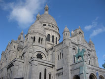 Basilica of the Sacred Heart of Jesus. La Basilique du Sacré Cœur or Basilica of the Sacred Heart of Jesus, located on the top of Montmartre hill Stock Images