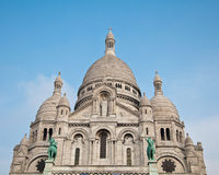 The Basilica of the Sacred Heart of Jesus on Montmartre in Paris Royalty Free Stock Photo