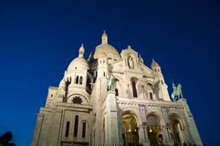 Basilica of the Sacred Heart of Jesus on Montmartre. Paris, France. Royalty Free Stock Photo
