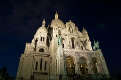 Basilica of the Sacred Heart of Jesus on Montmartre. Paris, France. Royalty Free Stock Image