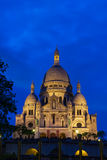 Basilica of the Sacred Heart of Jesus of Paris at sunset Royalty Free Stock Photography