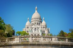 The Basilica of the Sacred Heart in Montmartre, Paris France. The Basilica of the Sacred Heart in Montmartre, Paris, France Stock Images