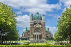 Basilica of the Sacred Heart and Parc Elisabeth Br Royalty Free Stock Photo