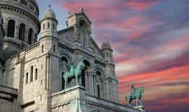 Basilica of the Sacred Heart of Paris Royalty Free Stock Photos