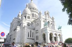 The Basilica of the Sacred Heart in Paris Stock Photography