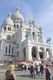 The Basilica of the Sacred Heart in Paris stock image