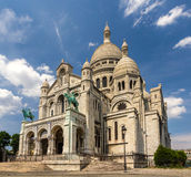 The Basilica of the Sacred Heart of Paris - France Stock Image