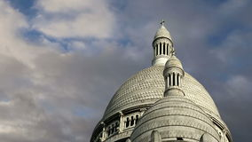 Basilica of the Sacred Heart, Paris, France stock video footage