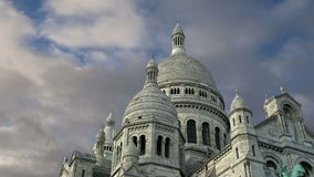 Basilica of the Sacred Heart, Paris, France stock footage