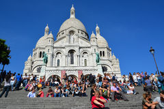 The Basilica of the Sacred Heart of Paris Royalty Free Stock Images