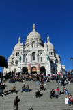 Basilica of the Sacred Heart in Paris Stock Images