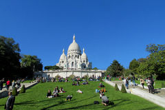 Basilica of the Sacred Heart in Paris Stock Photography