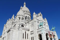 Basilica of the Sacred Heart of Paris on Montmartre stock photo