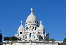 Basilica of the Sacred Heart of Paris on Montmartre stock images