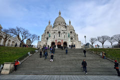 Basilica of the Sacred Heart of Paris Royalty Free Stock Photography
