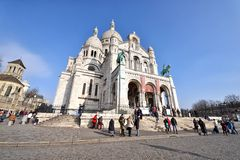 Basilica of the Sacred Heart of Paris Stock Photography
