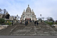 Basilica of the Sacred Heart of Paris Stock Photos