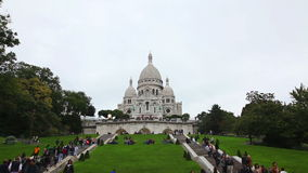 Basilica of the Sacred Heart of Paris (Sacre-Coeur) stock footage