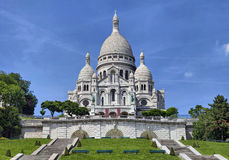 Basilica of the Sacred Heart, Paris. View on basilica of the Sacred Heart, Paris, France Stock Image