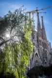 Basilica of the Sagrada Familia by the architect Antoni Gaudi Ba Royalty Free Stock Photography