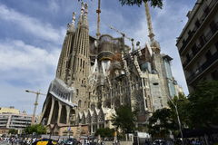 Basilica Sagrada Familia (=Holy Family), Barcelona, Spain. Stock Image