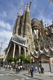Basilica Sagrada Familia (=Holy Family), Barcelona, Spain. Royalty Free Stock Image