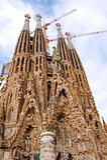 Basilica Sagrada Familia. La Sagrada Familia is one of Gaudí`s most famous works in Barcelona, Spain royalty free stock image