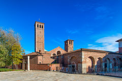 Basilica of Saint Ambrose Milan, Italy Stock Photo