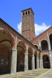 Basilica of Saint Ambrose (Sant'Ambrogio) in Milan Stock Photography