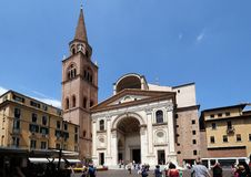 Basilica of Saint Andrew in Mantua, Italy.  Royalty Free Stock Photography