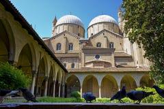 Basilica of Saint Anthony. The inner garden of the Basilica of Saint Anthony of Padua Stock Photos