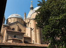 Basilica of Saint Anthony viewing from its internal courtyard. Padua. Stock Photo
