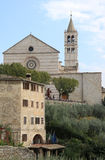Basilica of Saint Clare in Assisi, Italy Stock Photography