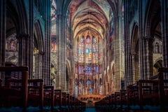 Basilica of Saint Denis stock image