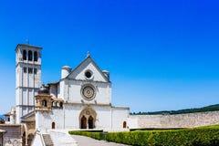Basilica of Saint Francis of Assisi against Blue Sky stock photos