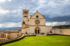 Basilica of Saint Francis of Assisi - Assisi,Italy. Papal Basilica of Saint Francis of Assisi - Assisi, Province of Perugia, Umbria Region, Italy, Europe stock image
