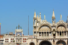 Basilica of Saint Mark and Clock Tower Royalty Free Stock Photography