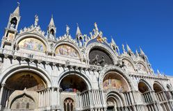 Basilica of Saint Mark in Venice with the splendid golden winged Stock Image