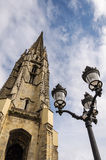 Basilica of Saint Michael Tower in Bordeaux Stock Photo