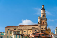 Basilica of Saint-Michel-Archange in Menton, France Stock Photo