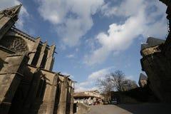 Basilica Saint-Nazaire in Carcassonne Stock Photo