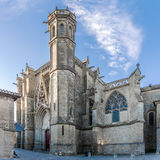 Basilica of Saint Nazaire in Carcassonne Stock Photos