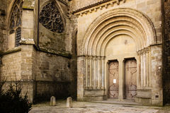 Basilica of Saint Nazarius. Carcassonne. France Stock Photos