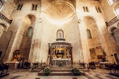 The Basilica of Saint Nicholas,in Bari, Italy Royalty Free Stock Images