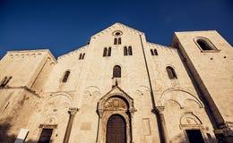 The Basilica of Saint Nicholas,in Bari, Italy Stock Photos