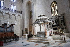 Basilica of Saint Nicholas in Bari, Puglia, Italy Stock Images