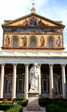Basilica of Saint Paul outside the wall, Rome, Italy Royalty Free Stock Photos