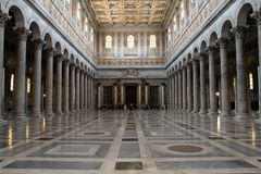 Basilica of Saint Paul Outside the Walls Stock Photos