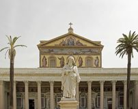 Basilica of Saint Paul Outside the Walls, Rome Italy Royalty Free Stock Photography